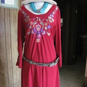 ROPER LADIES EMBROIDERED DRESS BRAND NEW 3/4 SLEEV